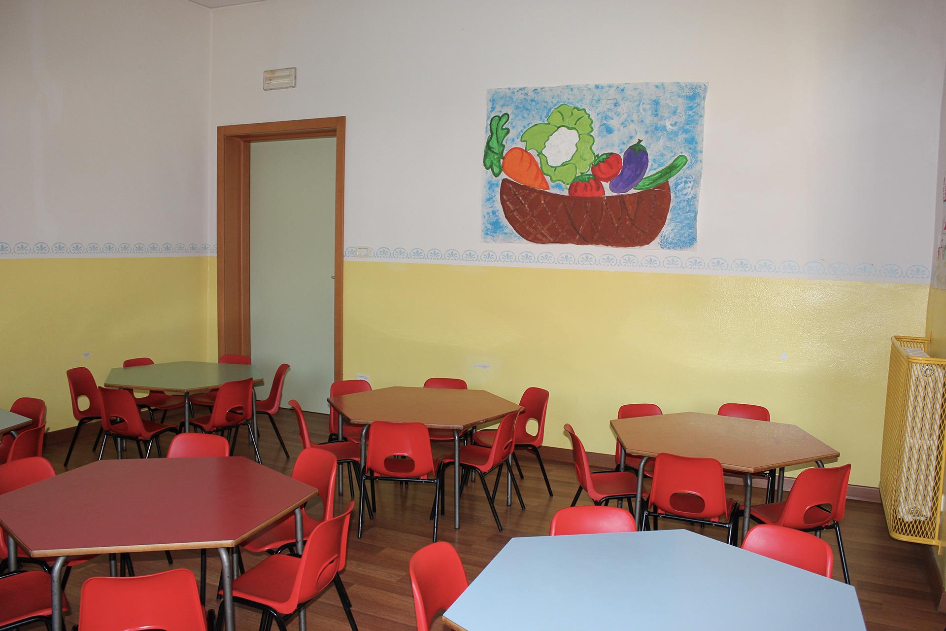 Asilo con cucina interna - sala da pranzo